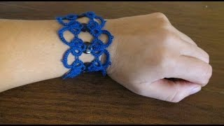 Needle Tatting Bracelet With Buttons