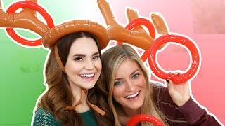 TRYING THE REINDEER TOSS GAME w/ iJustine!