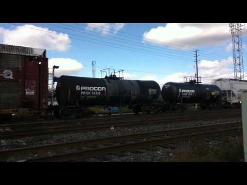 CN 554 EMD GP38-2 4728 & GP9 4018 & WB GO MPI MP40PH-3C 615 Oakville yard October 12 2012