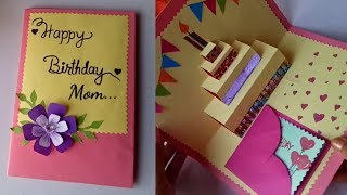 DIY cake pop up card for birthday DIY Birthday Day Card