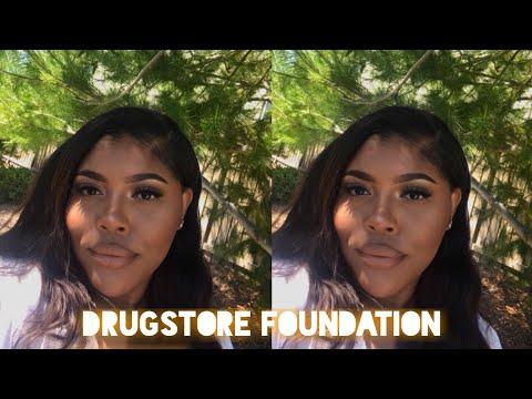 DRUGSTORE FULL COVERAGE FOUNDATION ROUTINE | Serena Nicole ♡