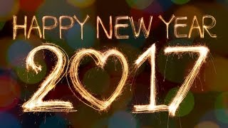 Happy New Year 2017 Best wishes New Year greetings Animated whatsapp E card fireworks