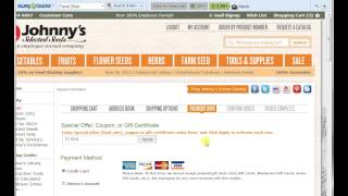 Johnnys Seed FREE Shipping code