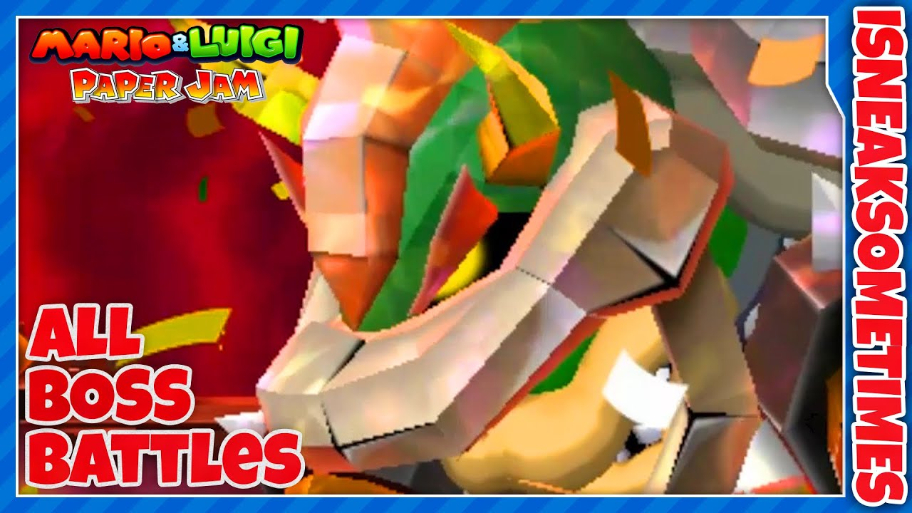 Mario Luigi Paper Jam All Boss Battles Youtube