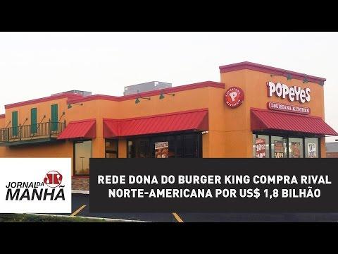 Rede dona do Burger King compra rival norte-americana por US$ 1,8 bilhão