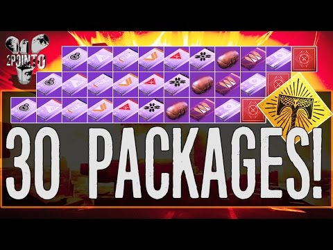 Destiny: OPENING 30 PACKAGES - RISE OF IRON PACKAGE OPENING (VANGUARD, CRUCIBLE, FACTION + MORE)