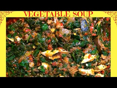 How to Make Nigerian Vegetable Soup | Efo riro