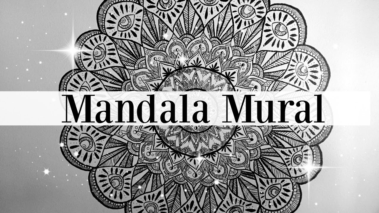 Mandala mural youtube for Mural mandala