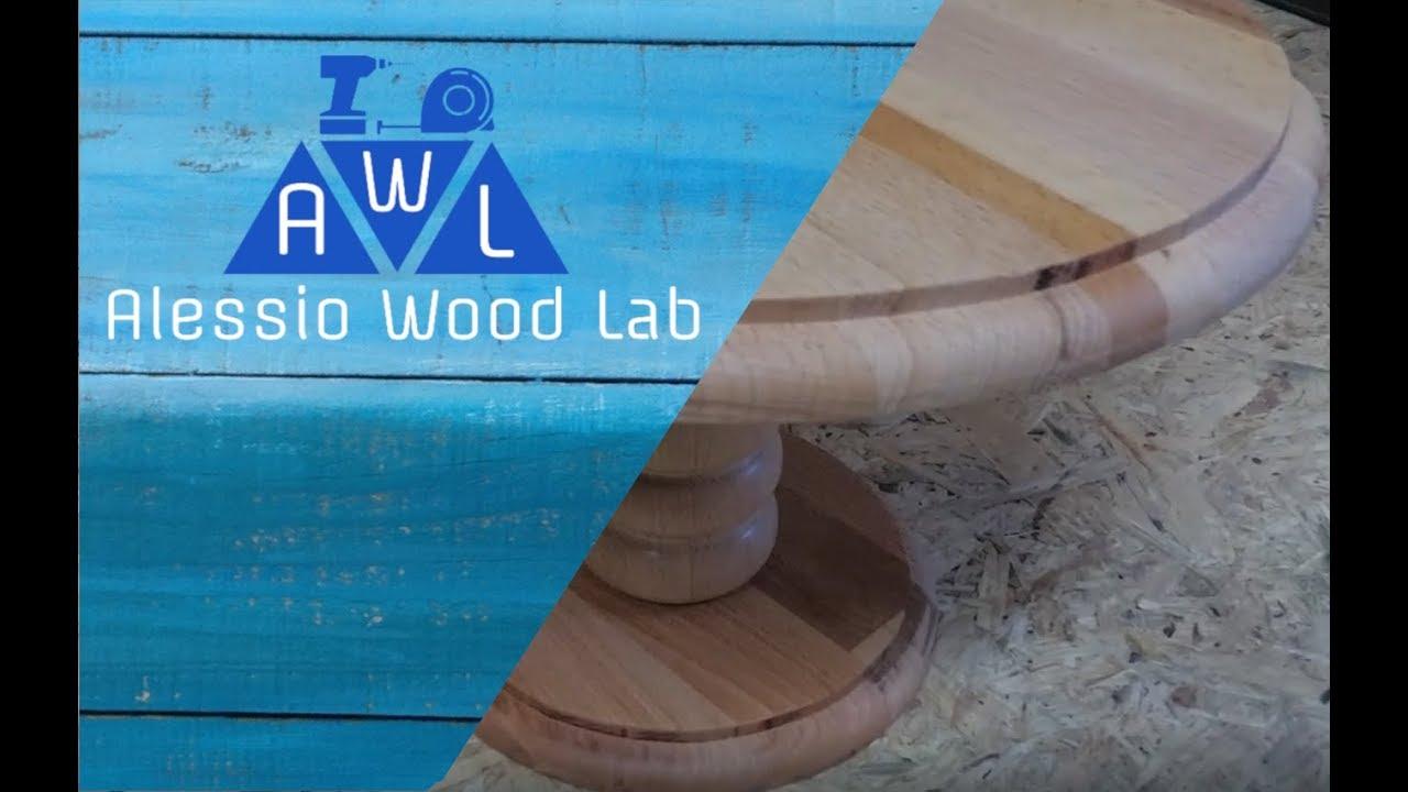FAI DA TE - DIY Alzata per dolci - Wood cake stand - YouTube