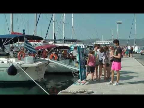 Adamas Milos  Walk along the harbour front