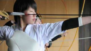 Dangerous and Beautiful Japanese High School kyudo student, Kyudo