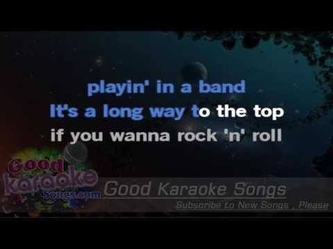 A Long Way To The Top - AC DC ( Karaoke Lyrics )