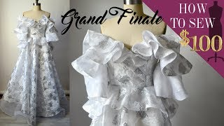 $100 Wedding Gown Sewing Challenge (EP: 09 GRAND FINALE)