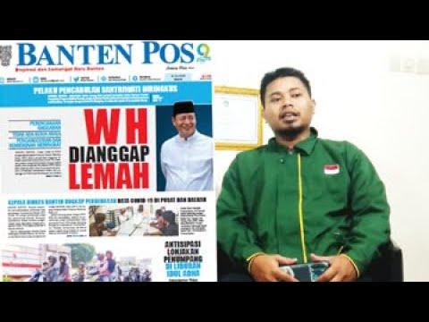 WAHIDIN HALIM DIANGGAP LEMAH | BANTEN POS HARI INI 30 - 07 - 2020