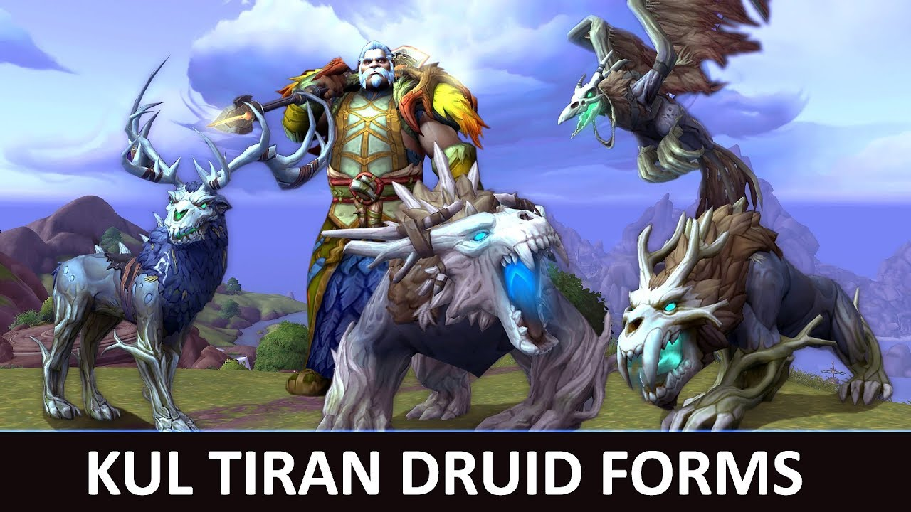 Kul Tiran Druid Forms | Animations and Variation | Battle for Azeroth