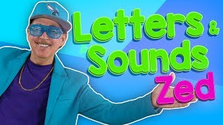 Learn the Letters and Their Sounds Zed | Alphabet Sounds | Jack Hartmann