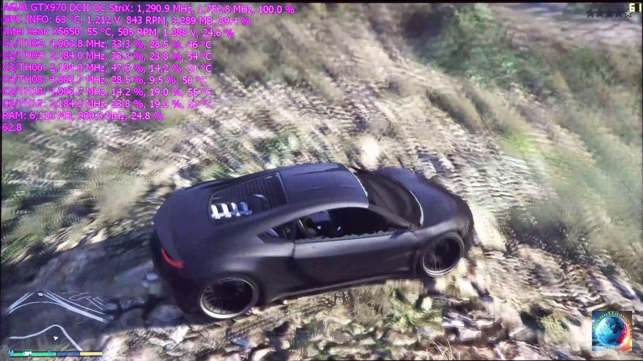 Тест новой камеры 4К (Meizu MX4), GTA V - MAX Settings/Xeon X5650/GTX970