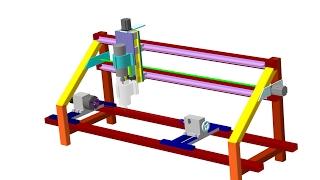 Токарно-Фрезерный станок с чпу(Просто но надежно. Сварная рама обеспечивает прочность станка что в свою очередь позволяет фрезеровать..., 2016-09-14T18:37:49.000Z)