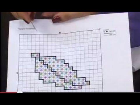 Tricolandia - Como leer gráficos y bordar en Punto de Cruz - YouTube