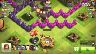 Clash of clans WTF moment | Gaints are flying every where