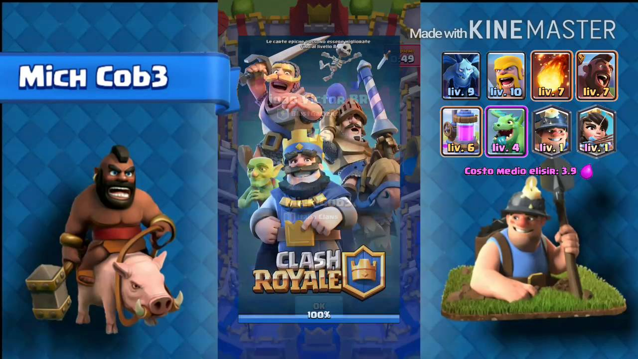 Best Hog Rider And Miner Deck Arena 7 8 Clash Royale Youtube