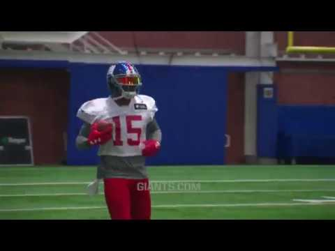 Brandon Marshall Suits Up for Giants first OTA Practice