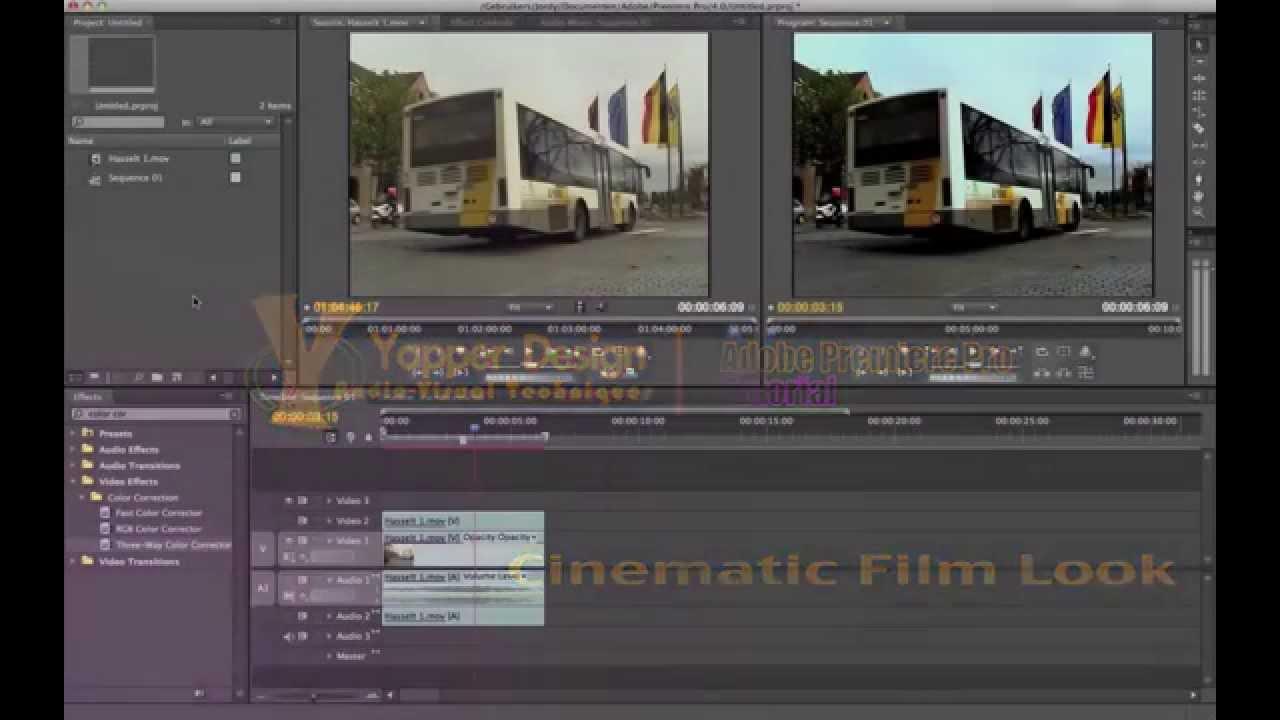 Premiere Pro Tutorial - Cinematic Film Look | Cinecom net