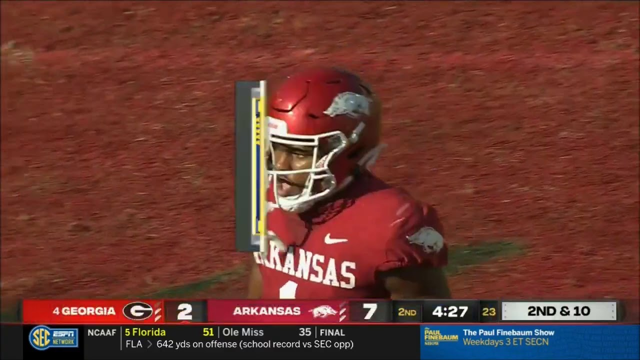 Arkansas Razorbacks defensive back Jalen Catalon ejected for ...