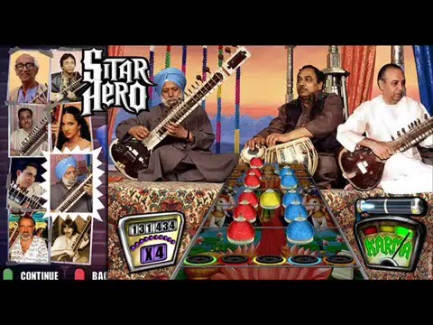 how to play sitar music on guitar