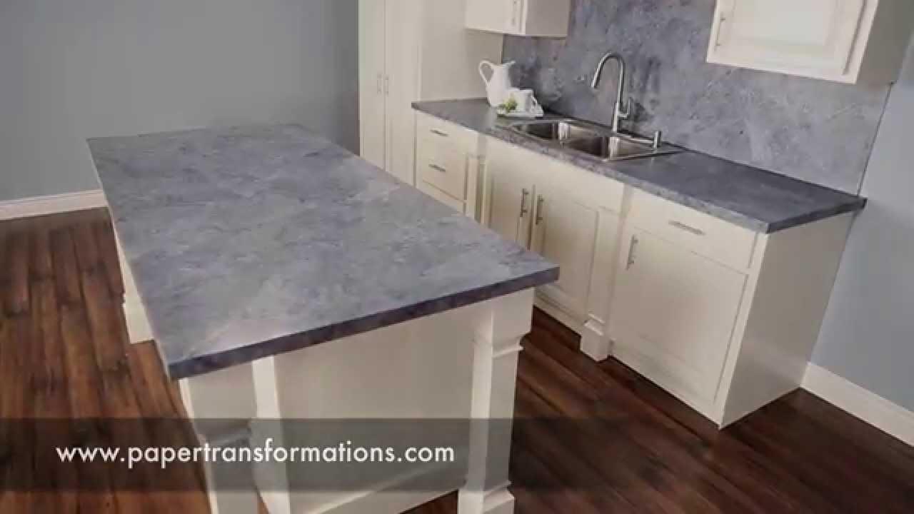 Refinishing Kitchen Countertops Cabinet Paint Colors Resurfacing Laminate Diy Ideas Youtube Premium