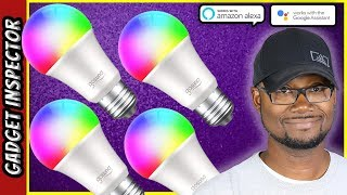 EASY SETUP Smart WiFi LED Light Bulbs | Works with Alexa & Google Assistant