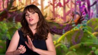 "Trolls ""Bridget"" Zooey Deschanel Behind The Scenes Interview"