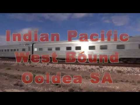 The Indian Pacific west bound Ooldea Station