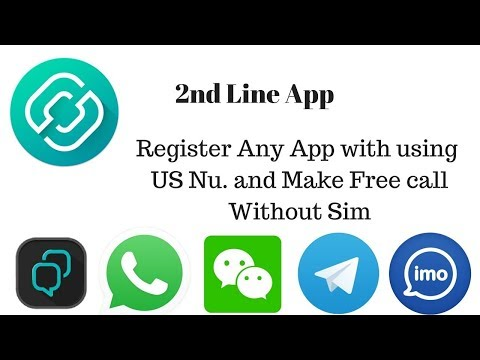2ndLine - US phone Number Register any App with using Maka