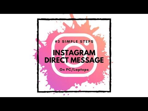 Instagram DM feature on Computer 2019