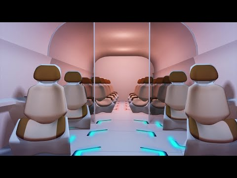 Hyperloop commuter pod unveiled in Dubai
