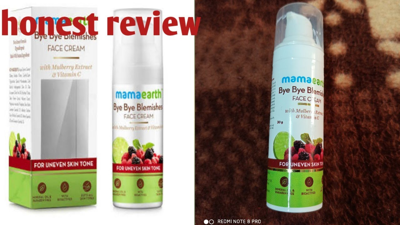Honest review of mamaearth bye bye blemishes face cream//
