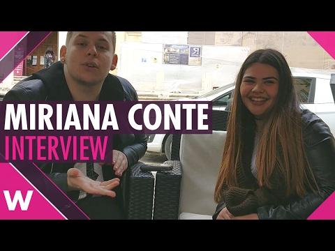 "Miriana Conte ""Don't Look Down"" - Malta ESC 2017 (INTERVIEW)"