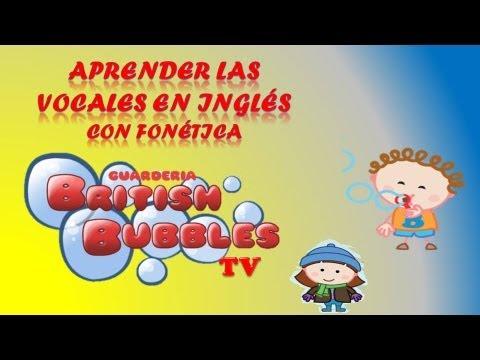 LAS VOCALES EN INGLES PARA NIÑOS. BBTV38 - YouTube