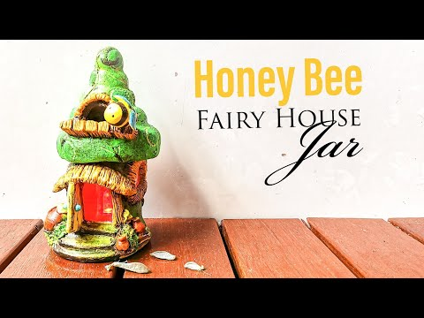 Easy Honey Bee Fairy House DIY Jar Clay Craft, Works with Best Homemade Clay