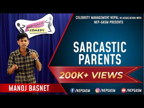 Sarcastic Parents | Nepali Stand-Up Comedy | Manoj Basnet | Nep-Gasm Comedy
