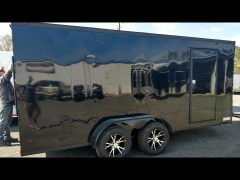 7x14 enclosed trailer BLACKOUT