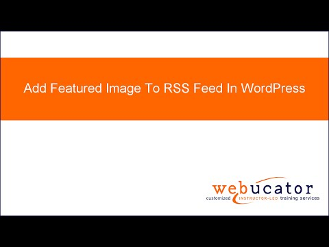 Add Featured Image To RSS Feed In WordPress
