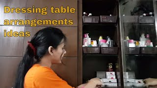 My dressing table and make up storage arrangement ideas / how to organize dressing table hindi