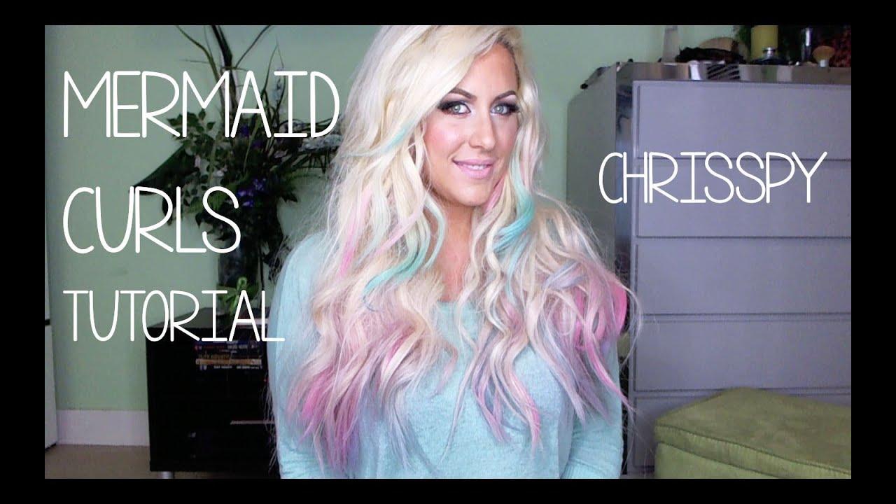 Mermaid Curls Hair Tutorial Nume 25mm Curling Wand Youtube