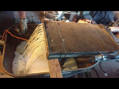 How to rod and clean a cars radiator hillbilly backyard style