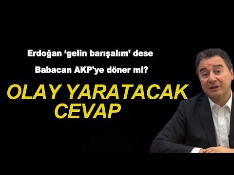 Ali Babacan'dan AKP'ye döner misiniz sorusuna çok konuşulacak cevap!