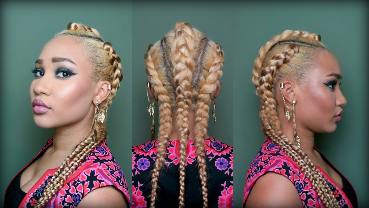 Blonde braids extensions