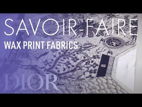 Wax Print Fabrics Savoir-Faire - Dior Cruise 2020 Collection