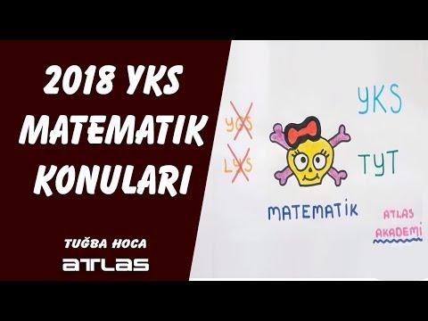 YKS Matematik Konuları 2018 Tuğba Hoca